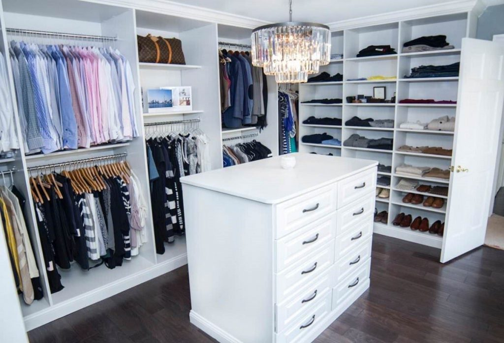 how to share closet space