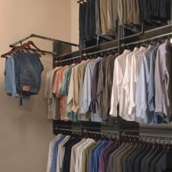 Folding clothes - triple hang