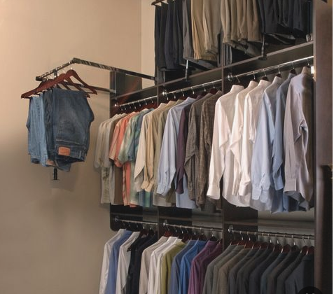 Folding clothes - triple hang