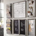 black and white command center with calendar and to-do lists