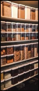 Dry Goods Stored in Kitchen pantry