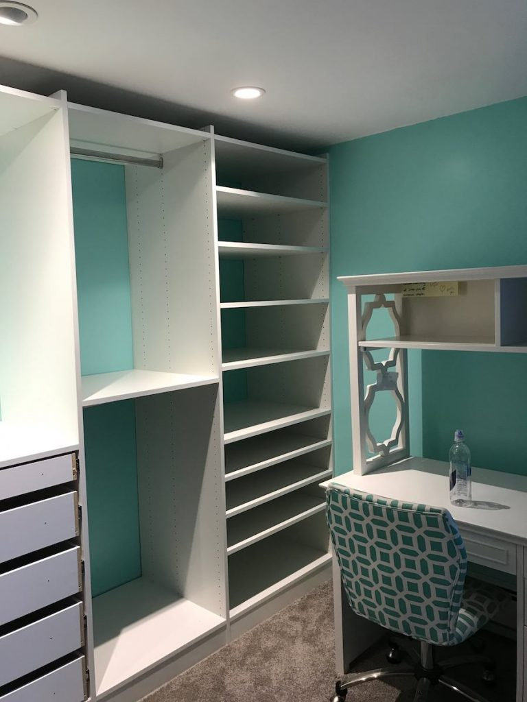 closet and office desk