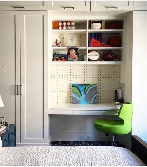 small desk in bedroom