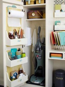 small cleaning closet